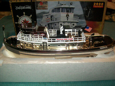 2000 Texaco Fire Chief Tugboat Bank  Special Chrome Edition  1St In Series