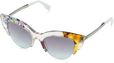 207ad061e751 FENDI GALASSIA MARBLE FF0074S White Crystal Yellow Cat Eye ...