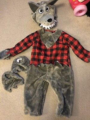 Baby Wolf Costume Halloween Horror Werewolf Infant Toddler Fancy Dress Outfit