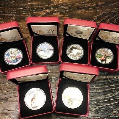 2016 Lot of 6 $20 Fine Silver Coins Animals