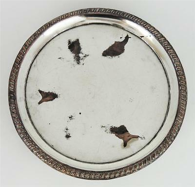 GEORGE III OLD SHEFFIELD PLATE Small FOOTED WAITER TRAY c1770 Ball Feet
