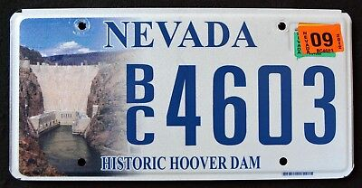 "NEVADA "" HISTRORIC HOOVER DAM "" NV Specialty Graphic License Plate"