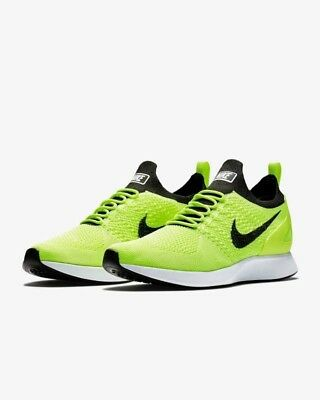 Authentic Nike Air Zoom Mariah Flyknit Racer SZ 11.5 Running Shoes Volt $150
