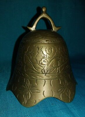 Vintage Zhong Style Bronze Chinese Temple Bell
