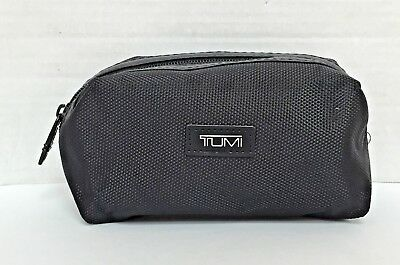Tumi For Delta Airlines First Class Toiletry Amenity Travel Bag Zip Pouch Black