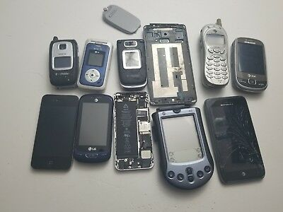 Lot Of 11 Cell Phones Some IPhones Some Androids Some Samsungs