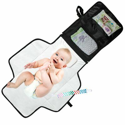 Portable Diaper Changing Pad - Waterproof with Built-in Head Cushion - Baby
