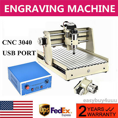 USB 4Axis 3040T CNC Router Engraving Machine Engraver Carver DIY Milling Carving