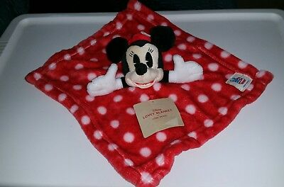 Junk Food Disney Minnie Mouse Security Blanket Lovey Polka Dot Baby Soft Plush