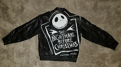 #9/100 Original 1999 Nightmare Before Christmas Leather Jacket Size XL