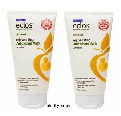 Lot of 2 New Eclos Apple Stem Cell Rejuvenating Antioxidant Mask 5.0 fl oz x 2