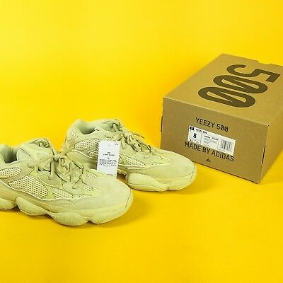 cac8ab9642953 Adidas Yeezy 500 Super Moon Yellow Desert Rat Sneakers - Sumoye - US Mens  Size 8