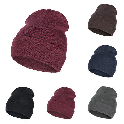 Women Men Cap Knit Hats Unisex Hedging Baggy Hat Warm Outdoor Beanie Caps  Winter a6afbe4e2f08
