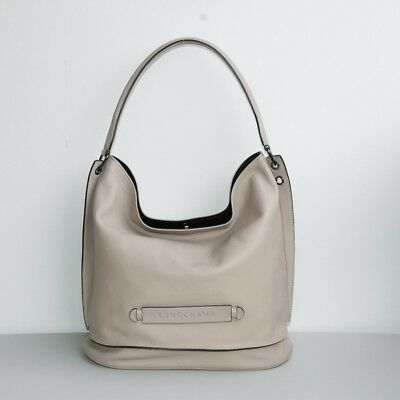 bb6670b5b LONGCHAMP 3D LEATHER Large Hobo in Clay - $369.99 | PicClick