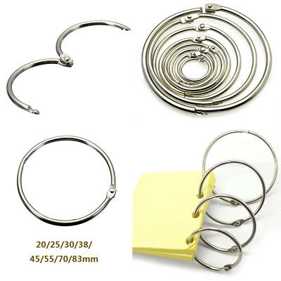 10/20 pcs Metal Book Binder Hinged Ring Photo Album Binding DIY Craft Keyring
