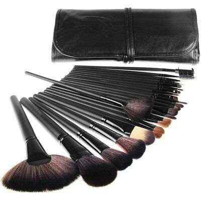 Professional 24pcs Face Eyeshadow Makeup Brushes Cosmetic Tool Set with Bag AU