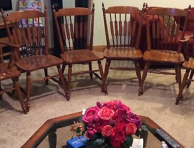 Tell City Hard Rock Maple Dining Chairs