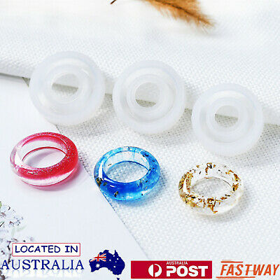 6/Lot Silicone Mold Resin Casting Mould Ring Jewelry Pendant Making Craft DIY