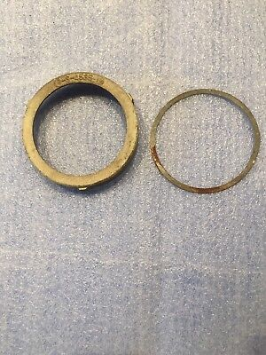 Old? Vintage? Nautical or Industrial Brass or Bronze Light Lense Retainer