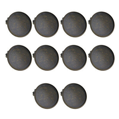 10x Bronze Pin Brooches w/ 20mm Round Base Brooch Blanks DIY Brooch Findings