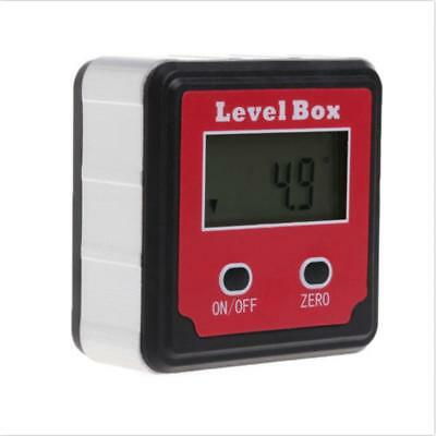 Digital Inclinometer Measuring Angle Precision Electronic Box Protractor Red