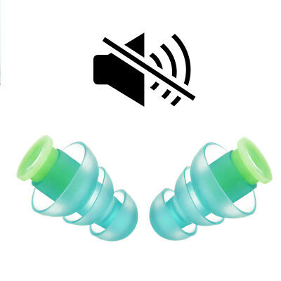 2Pcs Noise Cancelling Ear Plugs for Sleeping Concert Musician Hearing Protection