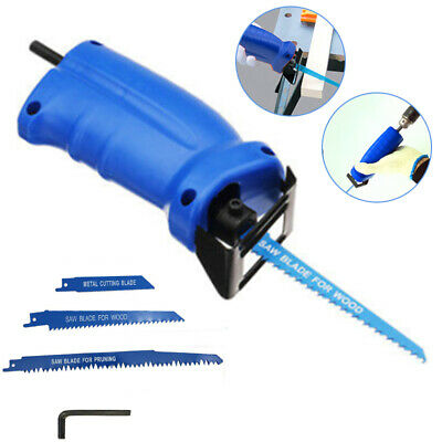 Reciprocating Saw Adapter Changed Electric Drill Into Attachment Set Home Tool
