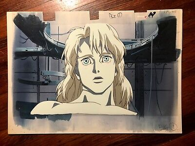 Ghost in the Shell Puppet Master Production Cel with Hand Painted Background