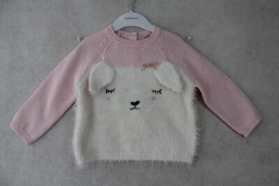 Baby Girls Size 18m Fox & Finch Winter Pink Bunny Knit Jumper NWT