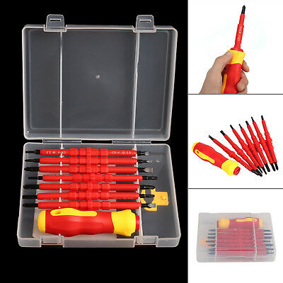 Electricians Screwdriver Set Tool Electrical Fully Insulated 7Pcs with Kit Case