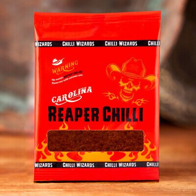 Carolina Reaper Chilli Powder - Worlds Hottest Chilli Powder - 12 x 10g