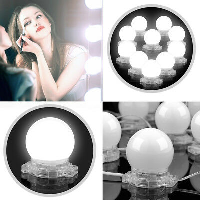 Hollywood Style Makeup Mirror lights Dimmable LED Vanity Lights Kit 10 Blubs