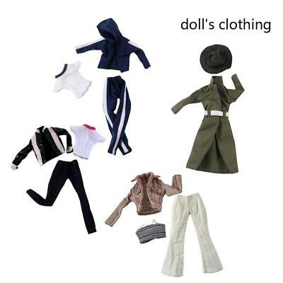 Fashion Handmade Coat Modern Outfit Daily Wear 3Pcs/Set For Barbie Doll
