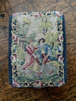 Vintage Austrian Petit Point Tapestry Powder Compact