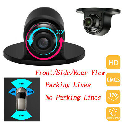 """5"""" HD Mirror Monitor DVR + Nightvision Rear View Reverse Backup Camera Wired Kit"""