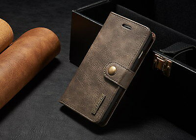 Leather Removable Wallet Magnetic Flip Card Slot Case Cover iPhone 6 7 8 & Plus