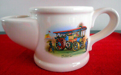 "Wade Shaving Mug Vintage ""Her Majesty"" by Burrell 1897 Traction Engine"