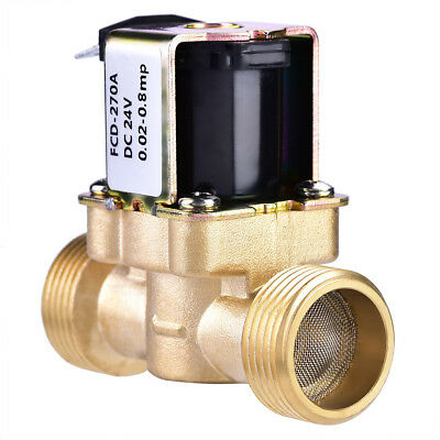 "3/4"" DC 24V Normally Closed Brass Electric Solenoid Magnetic Valve Water Control"