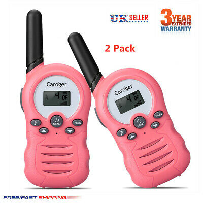 2x16CH Walkie Talkies LCD USB Rechargeable PMR Two Way Radio 5KM 10 Call Tones