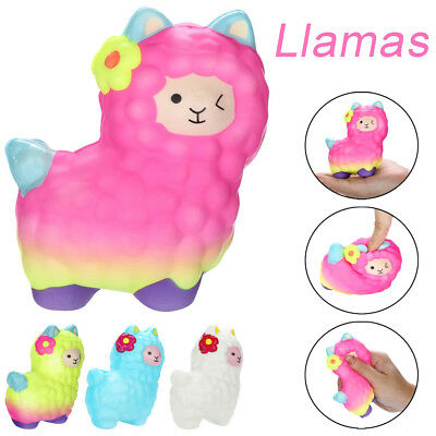 Squishies Adorable Llamas Slow Rising Fruits Scented Squeeze Stress Relief Toy T