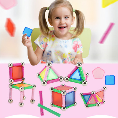 50 Pcs Educational Magnetic Sticks Building Blocks Fun Toys Children Gifts New