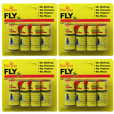 16 Rolls Insect Bug Fly Glue Paper Catcher Trap Ribbon Strip Sticky Tape Flies I