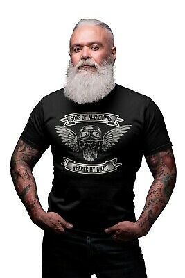 SONS OF ALZHEIMERS WHERES MY BIKE Mens Funny Motorbike T-Shirt Motorcycle Biker