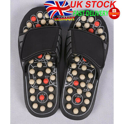 GESMART Rotary Massage Ball Spiny Foot Sole Massage Slippers Acupuncture Therapy