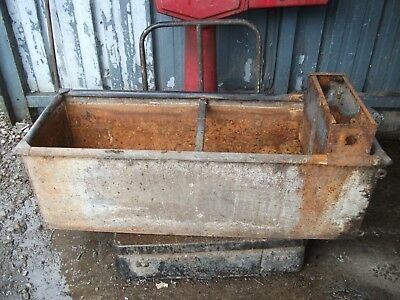 vintage galvanised water trough planter