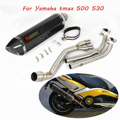 Slip On Exhaust System Muffler Pipe Front Link Pipe For Yamaha TMAX 500 530
