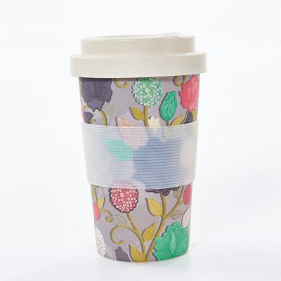Mug Eco Cup Reusable Coffee Biodegradable Travel Bamboo Roses Chic MpVGqUzS