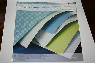Creative Memories Perfect Fit 12x12 Baby Boy Soft Paper Pack BNIP