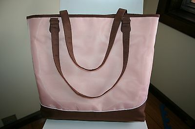 Creative Memories Vintage Project Tote in Pink Brown EUC