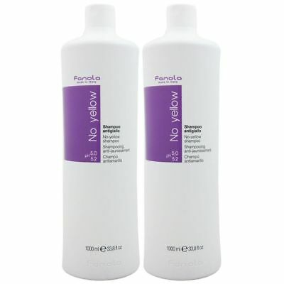 Fanola No Yellow Shampoo für Blondes Haar 2 x 1000 ml Set